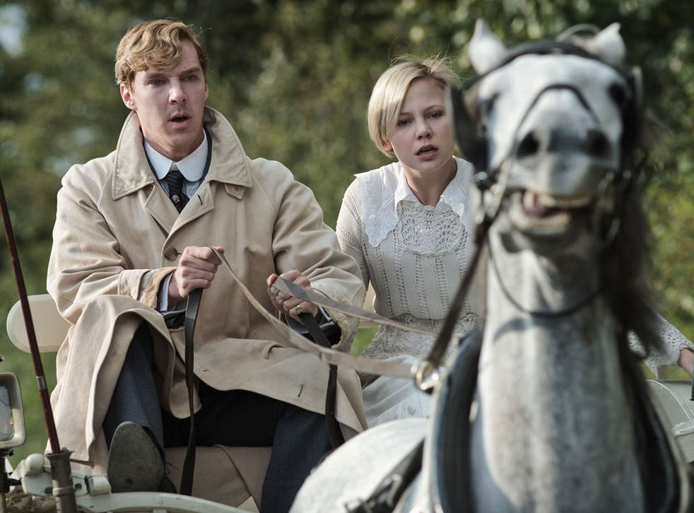 Benedict Cumberbatch, as Tietjens, and Adelaide Clemens, as Valentine, in Parade's End