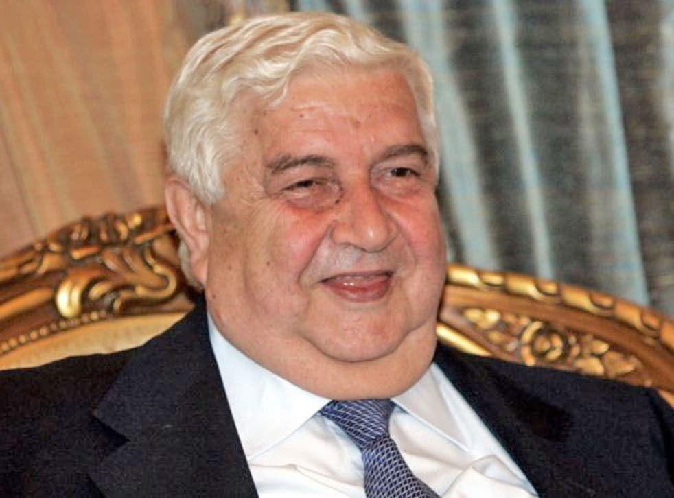 Assad's Foreign Minister Walid Muallem believes that the USa is the 'major player agains Syria'