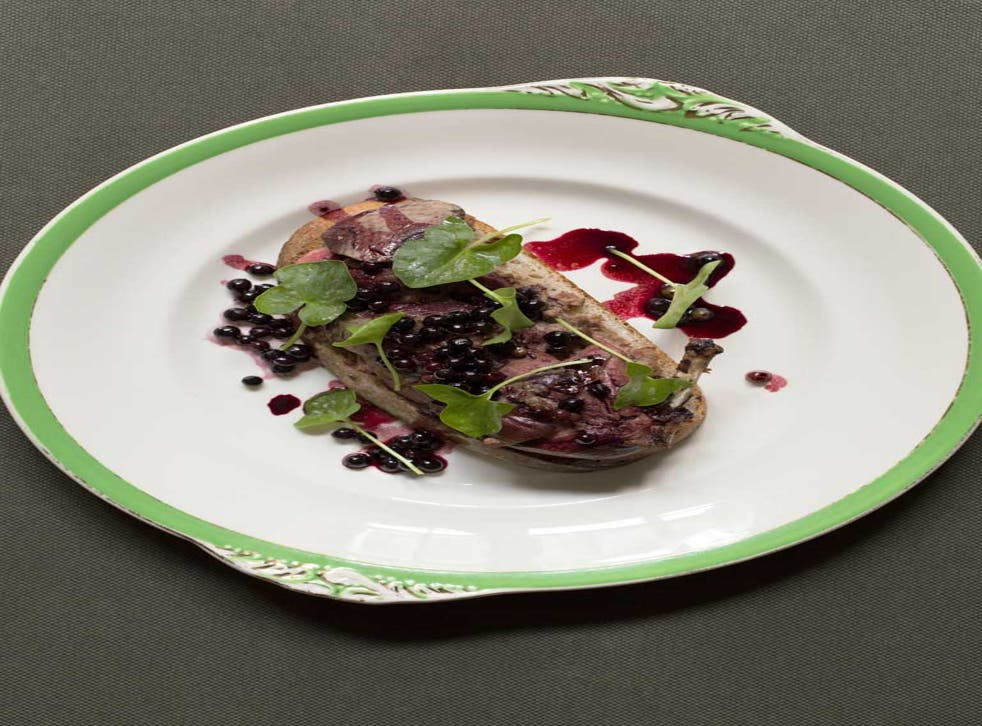 Grouse with blaeberries