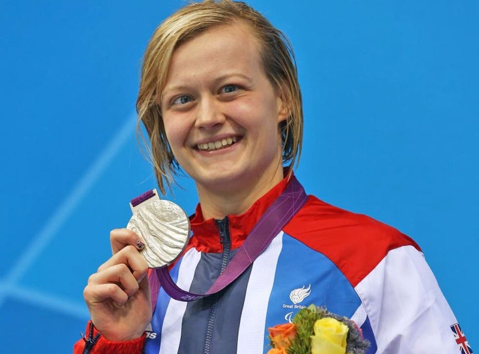 Hannah Russell: The Briton was all smiles last night after landing her silver medal
