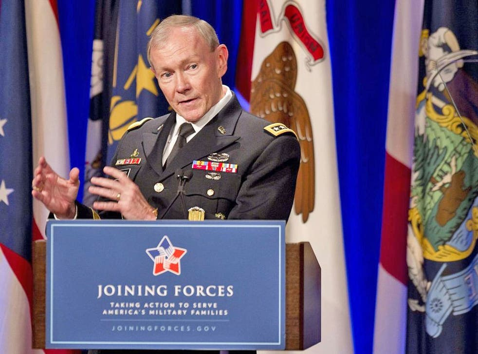 General Martin Dempsey has not supported demands made by Obama that President Assad must step down to end the conflict