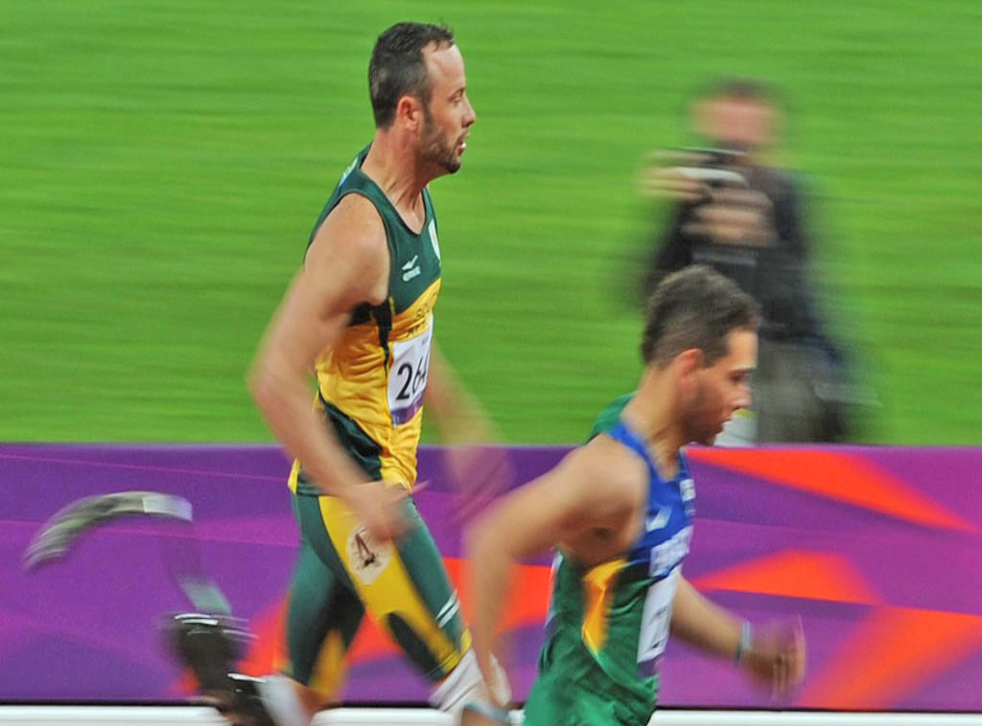 Oscar Pistorius, the amputee sprinter who won over so many hearts when he competed at the Olympics a few weeks ago, darkened the mood of the Games last night by complaining about the blades used by Alan Fonteles Cardoso Oliveira