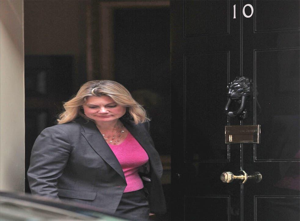 Justine Greening leaves No 10 Downing Street