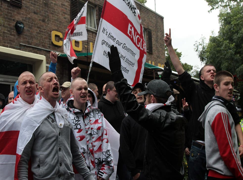 Tide of rage: members of the English Defence League demonstrate