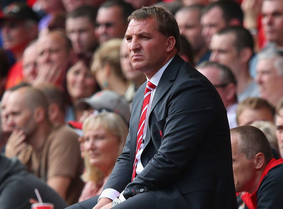 Brendan Rodgers has urged his Liverpool players to 'man up'