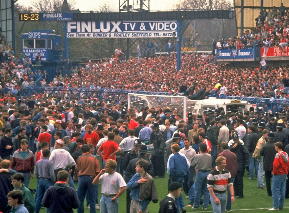 Thousands spilled on to the Hillsborough pitch to avoid the crush in which 96 people died