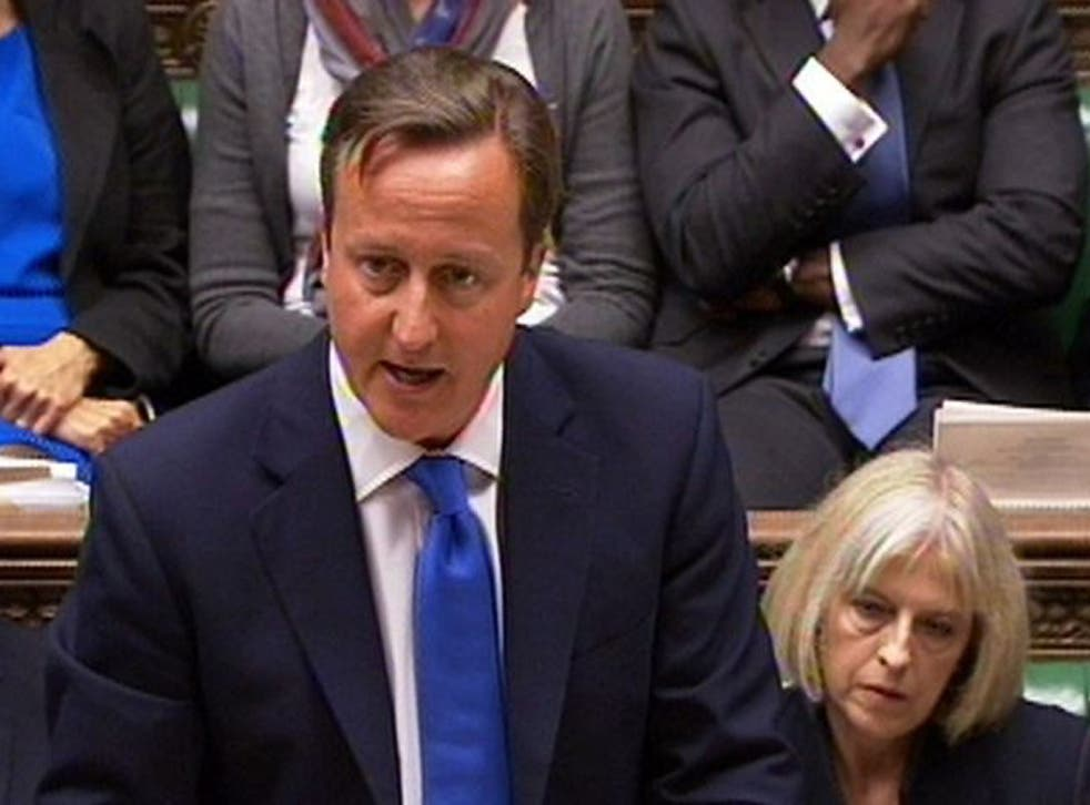 David Cameron delivers a statement in the House of Commons