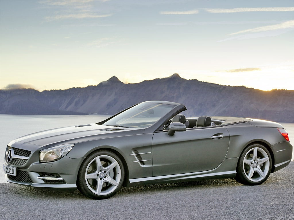 mercedes benz sl500 roadster the independent. Black Bedroom Furniture Sets. Home Design Ideas