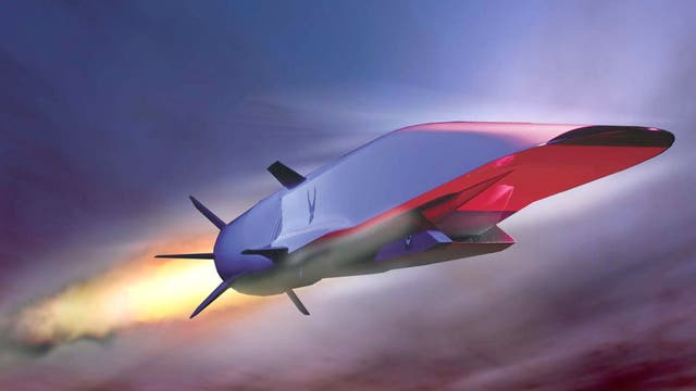 An artist's impression of Boeing's X-51A Waverider