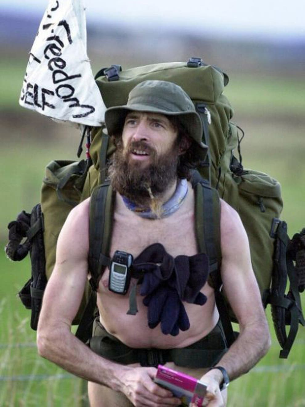 Naked rambler Stephen Gough arrested 3 days since walking