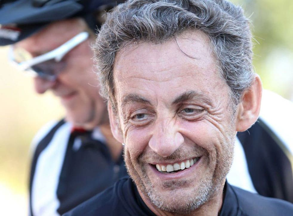 A relaxed and unshaven Nicolas Sarkozy