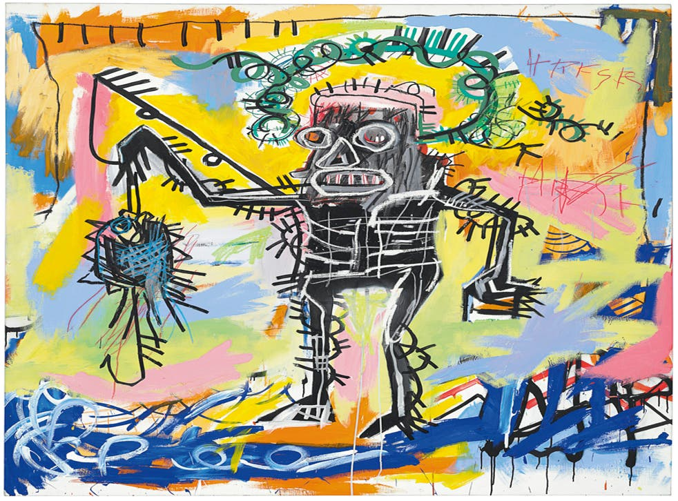 Jean-Michel Basquiat (1960-1988) Untitled, 1981 Acrylic and oilstick on Canvas 78 x 68 in, 198 x 173 cm
