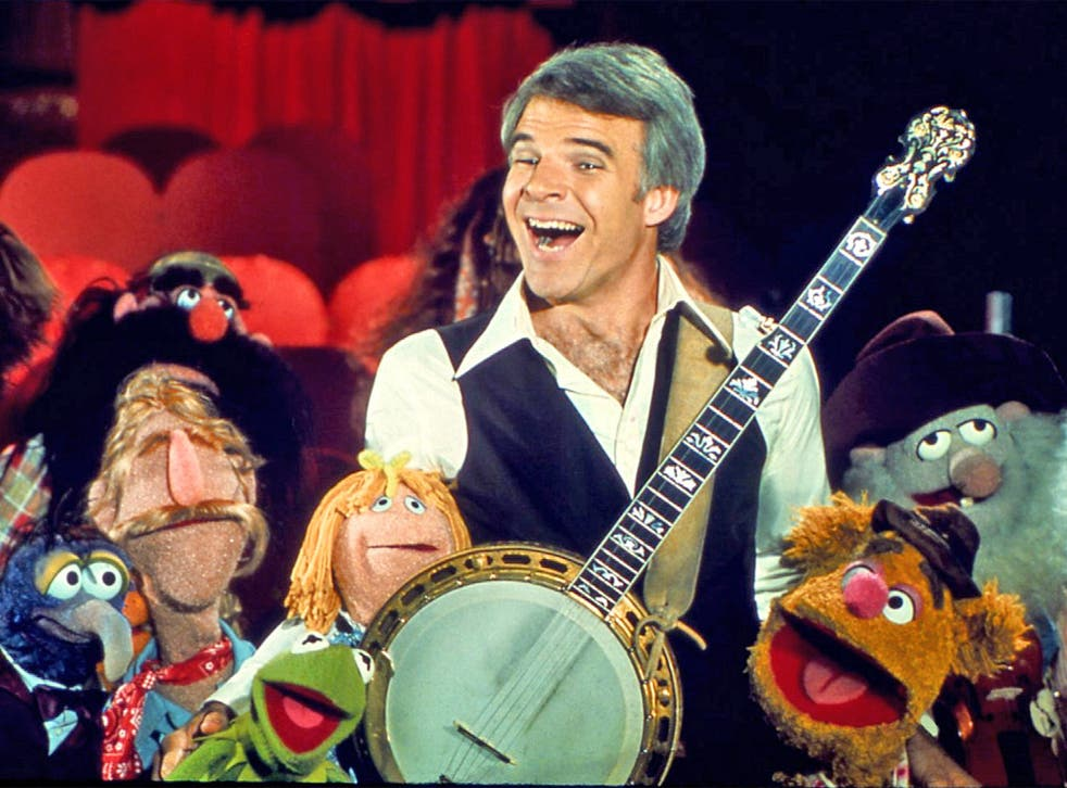 Steve Martin guests on 'The Muppet Show' in 1977. The comedian is now hosting a web masterclass to help aspiring comedians