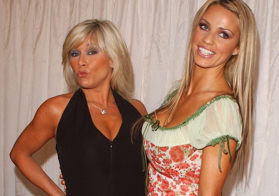 Former glamour models Sam Fox and Jordan.