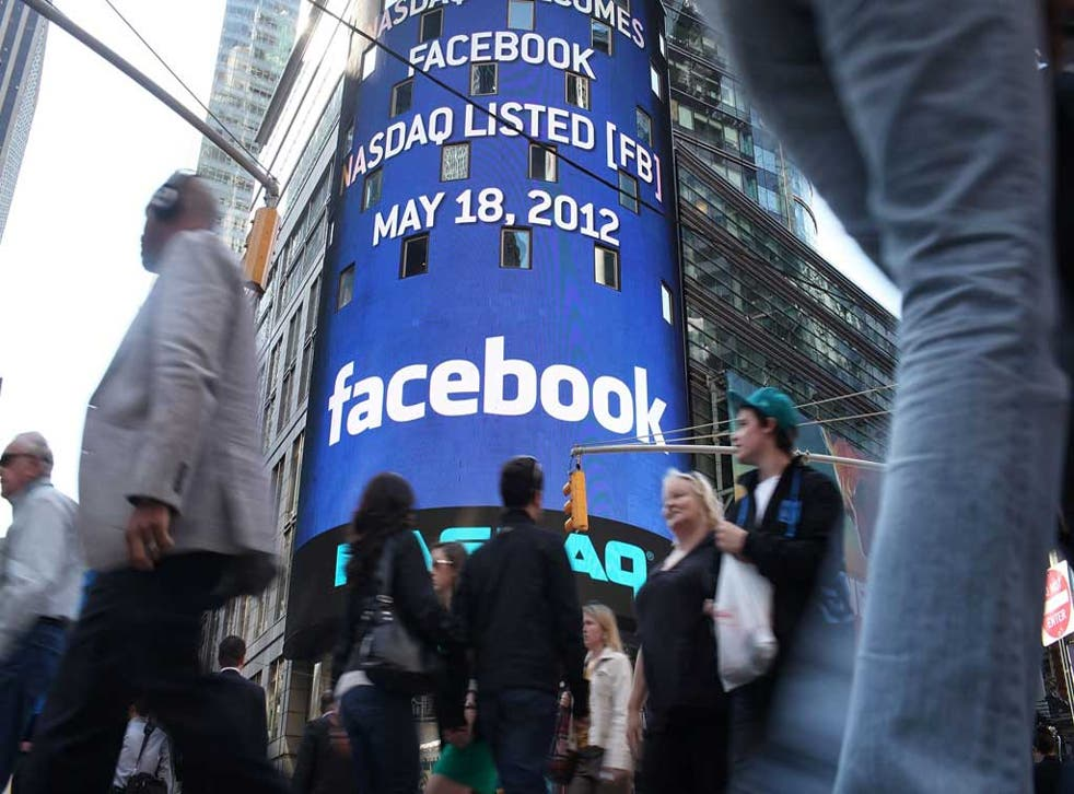 Boom, boom: Facebook advertises its shares in New York