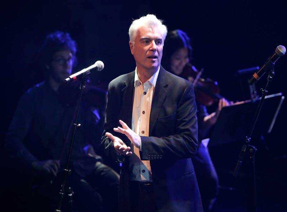 Rock's renaissance man: David Byrne performs