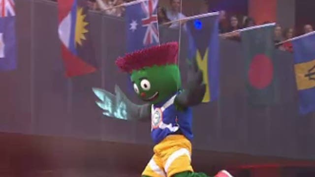 """<b>Clyde (Glasgow 2014 Commonwealth Games)</b><br/> A thistle man named Clyde has been unveiled as the mascot which will celebrate with Sir Chris Hoy on his last hurrah at the Commonwealth Games before calling it a day. Clyde was designed by a 12-year-old, and it shows. The creator, Beth Gilmour, said: """"I still can't believe that my entry is now the Glasgow 2014 mascot."""" Nor can we."""