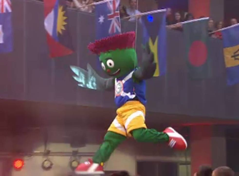 <b>Clyde (Glasgow 2014 Commonwealth Games)</b><br/> A thistle man named Clyde has been unveiled as the mascot which will celebrate with Sir Chris Hoy on his last hurrah at the Commonwealth Games before calling it a day. Clyde was designed by a 12-year-old