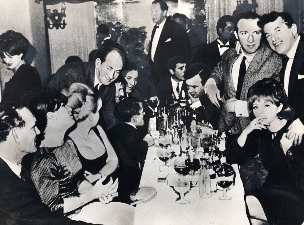 Richardson in the 1960s, standing, second right: his brother Eddie is sitting next to him