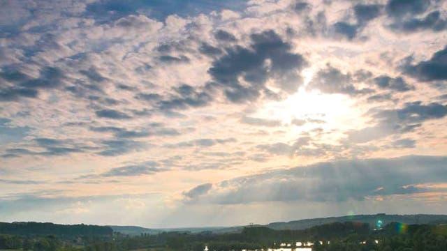 Green peace: the river Meuse near Sedan