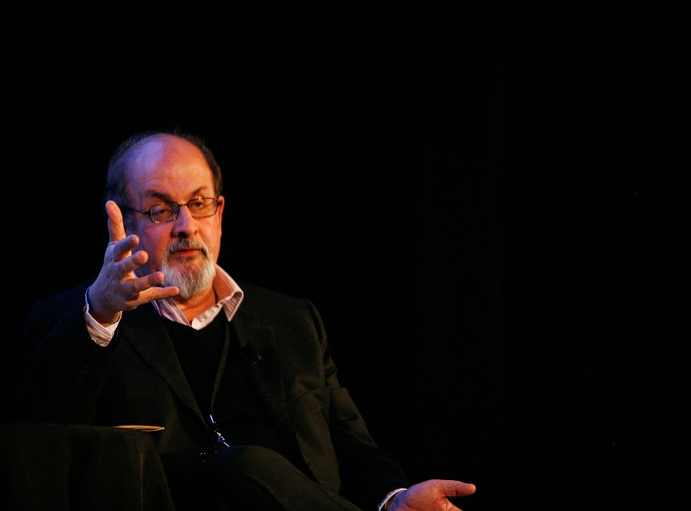 Writer Salman Rushdie speaks at his work at The 2009 New Yorker Festival