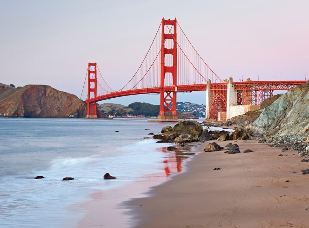 The Golden Gate Bridge across San Francisco Bay