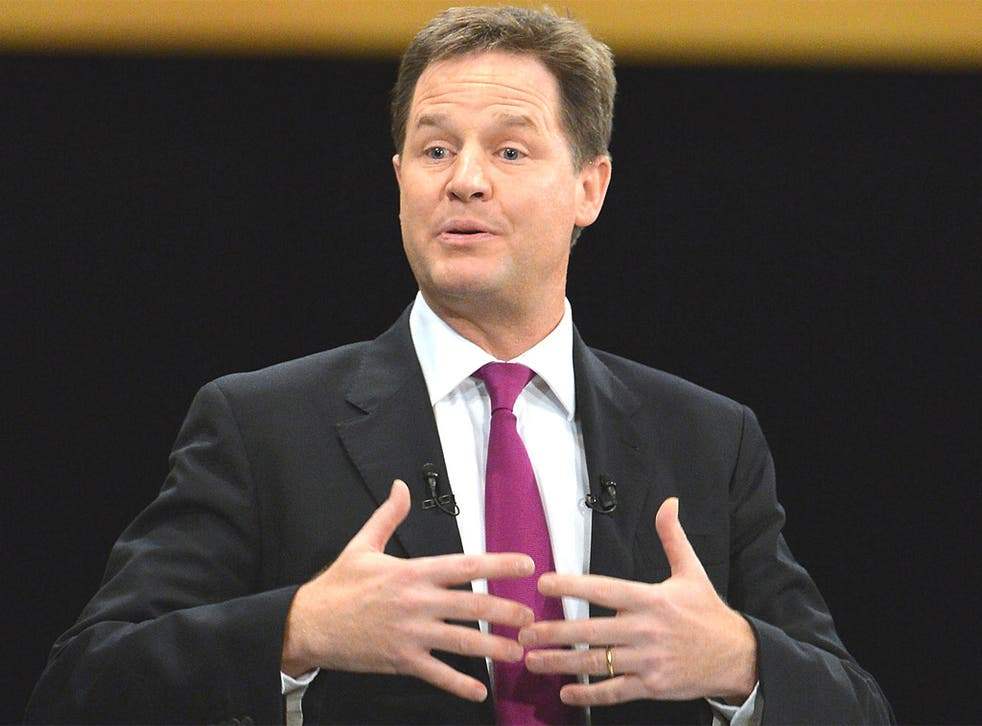 Nick Clegg put clear dividing lines between the Lib Dems and the Conservatives on tax and the environment