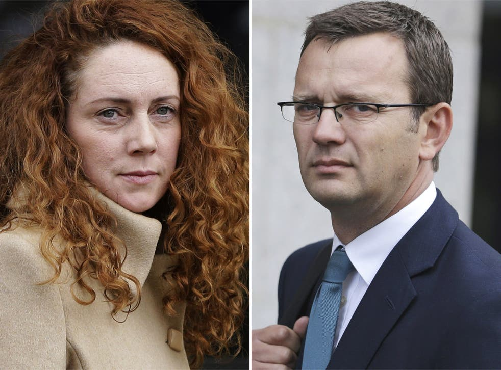 Rebekah Brooks and Andy Coulson outside the Old Bailey yesterday