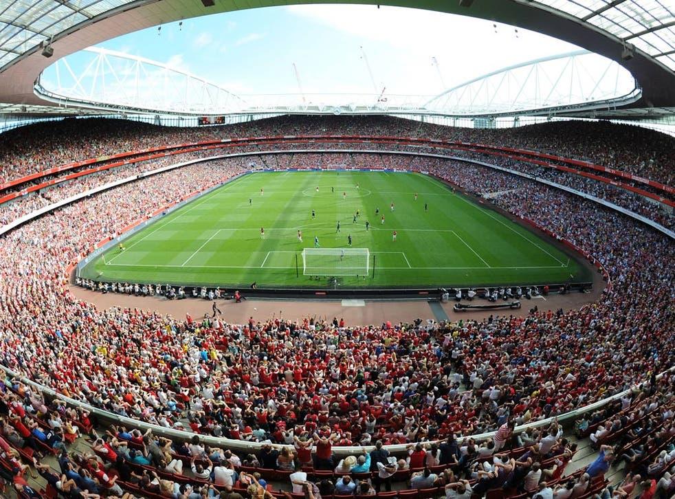 A view of Arsenal's Emirates Stadium