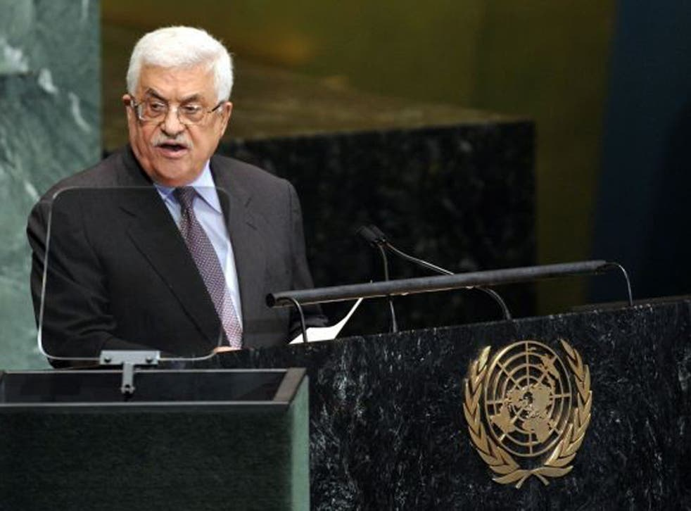 """Abbas said today in his speech to the assembly that """"intensive consultations with the various regional organizations and the state members"""" were underway"""