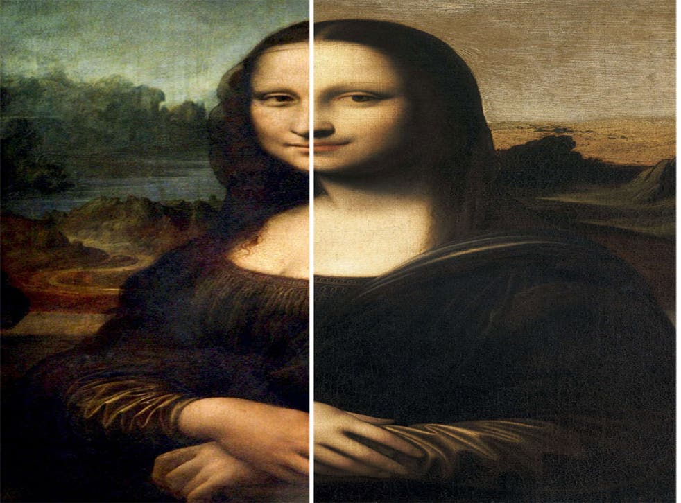 <b>Mona Lisa (left)</b> <br />Leonardo's preferred medium was wood, not canvas which the Isleworth version is painted on. Art historian Martin Kemp said: 'The head, like all other copies, does not capture the profound elusiveness of the original'<br/> <p>