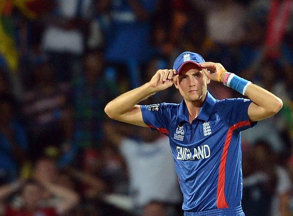 Stuart Broad looks on against Sri Lanka