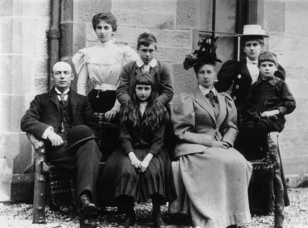Circa 1890: A Victorian family group.
