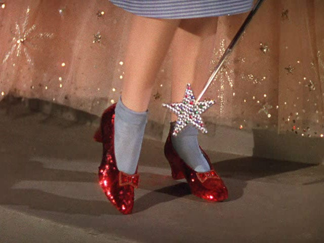 23883655a82 Click your heels together three times: Dorothy's ruby slippers come ...