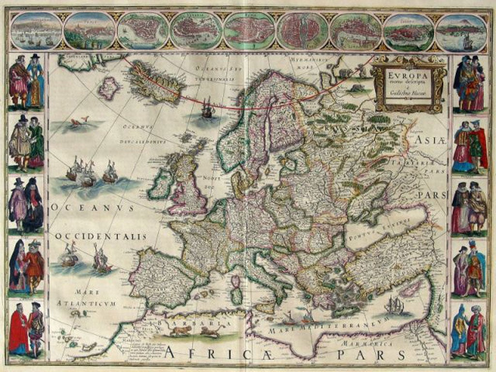Blaeu World Map.Book Of A Lifetime Atlas Maior By Joan Blaeu The Independent