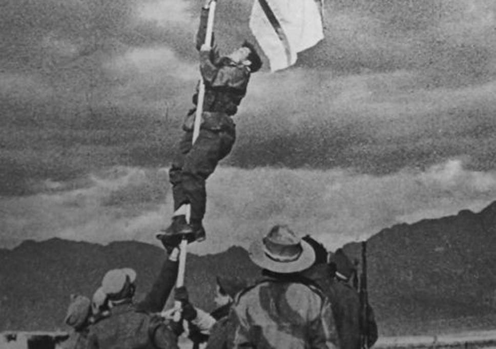 general avraham adan soldier who raised the ink flag that