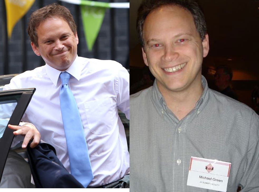 Grant Shapps in Downing Street; Mr Shapps as 'Michael Green'