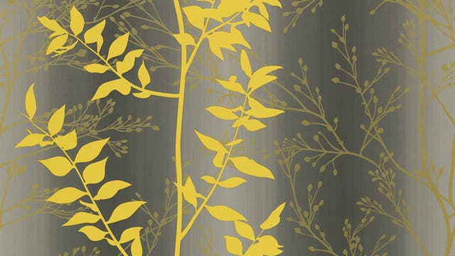 Glamour sheen: With shades of gold, slate and tumeric and a simple pattern, this Persephone wallpaper by Clarissa Hulse adds a touch of glamour without dominating a space, £48, clarissahulse.com