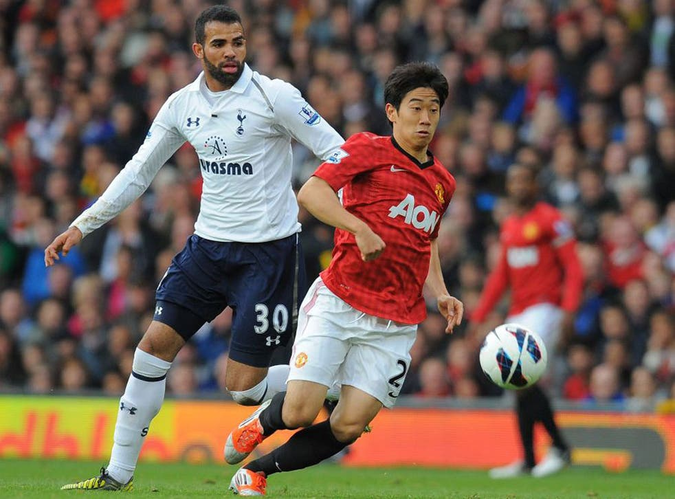 Sandro in action against Manchester United