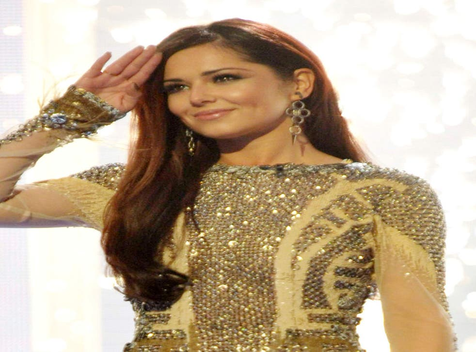 Gold standard? Cheryl disappointed at the O2 last night