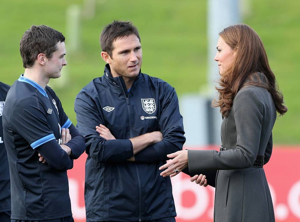 The Duchess of Cambridge meets Frank Lampard and Adam Johnson