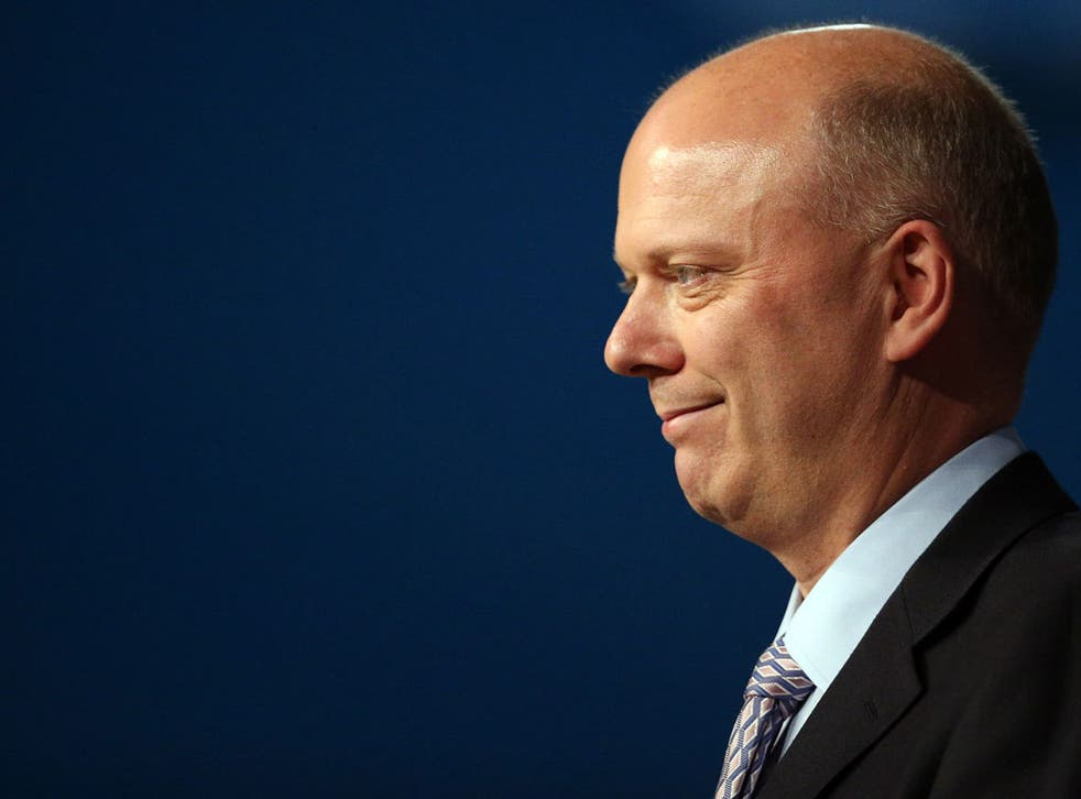 Justice secretary Chris Grayling speaks at the Conservative party conference in the International Convention Centre on October 9, 2012 in Birmingham, England.