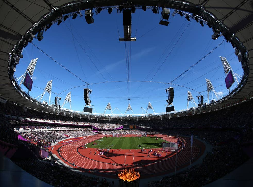 A view of the Olympic Stadium
