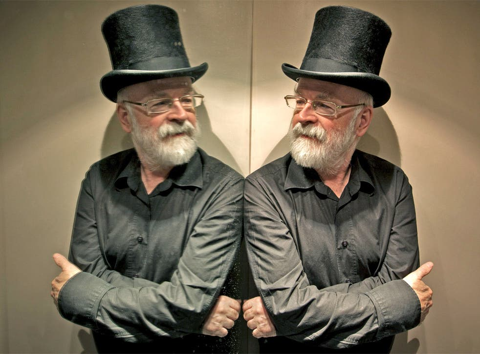 Reflecting: Terry Pratchett, whose new novel 'Dodger' has just been published