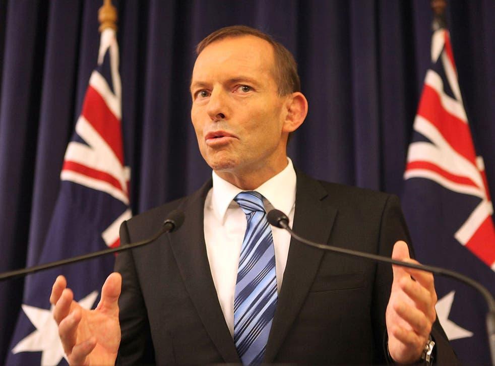 Tony Abbot, Australian Prime Minister.