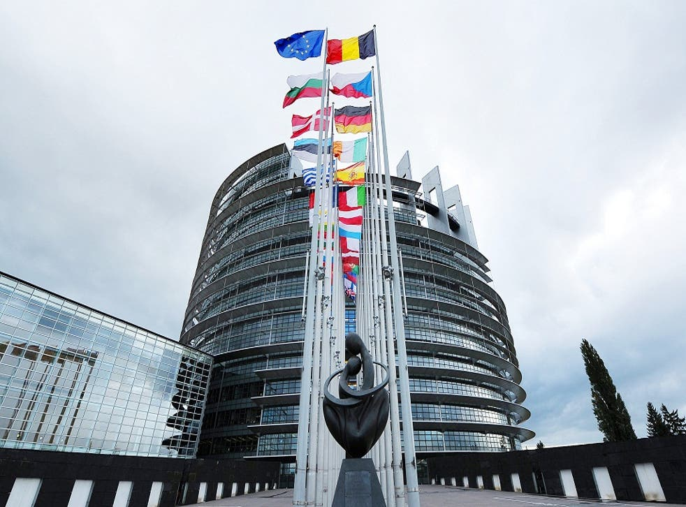 The UK has set a good example through domesetic policies such as 2050 net-zero carbon emissions and the Climate Change Act. Pictured is the European Parliament
