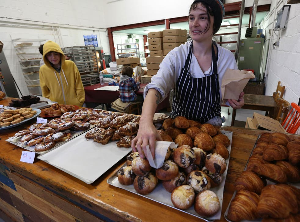 Nichola Gensler and colleagues at the Little Bread Pedlar in Bermondsey, south-east London. She has worked seven days a week for the past year to get her business established