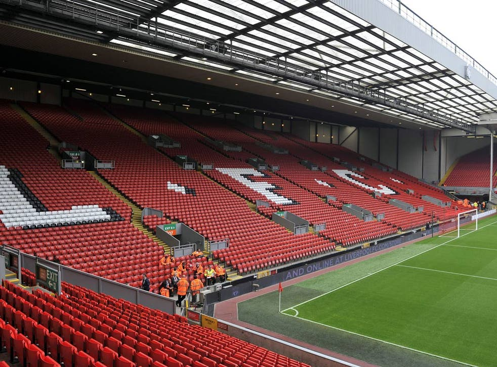 Liverpool's home, Anfield