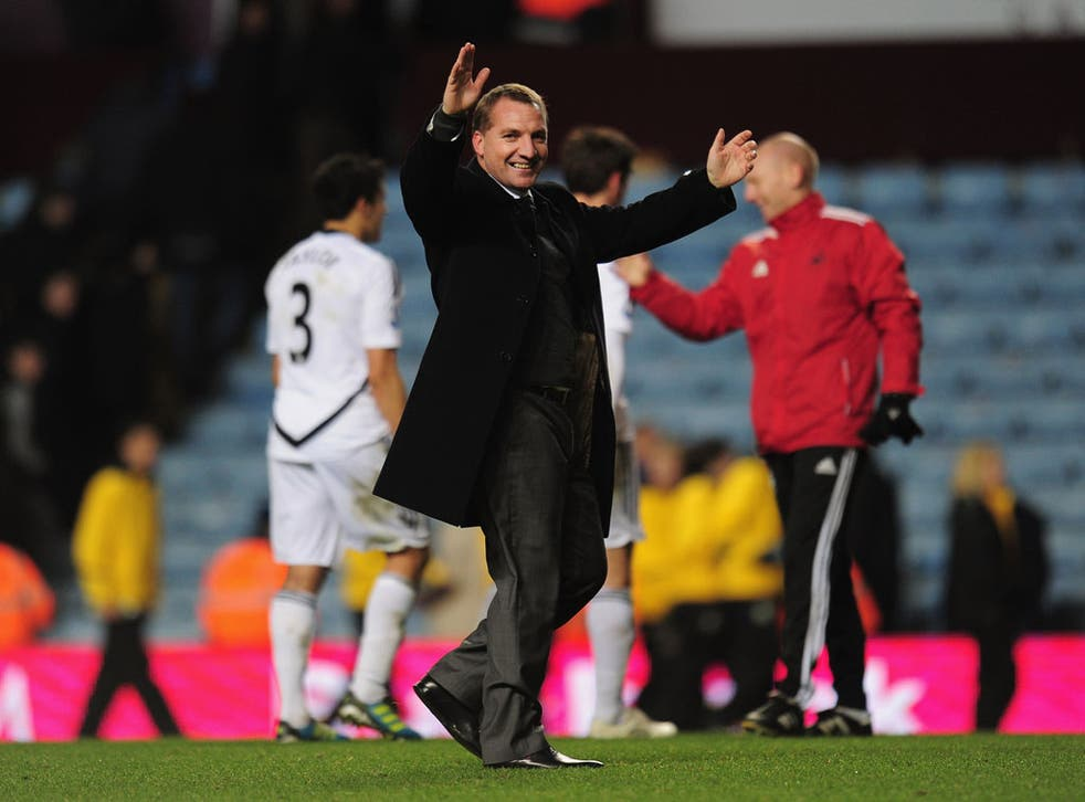 Brendan Rodgers led Swansea to 11th place in the Premier League