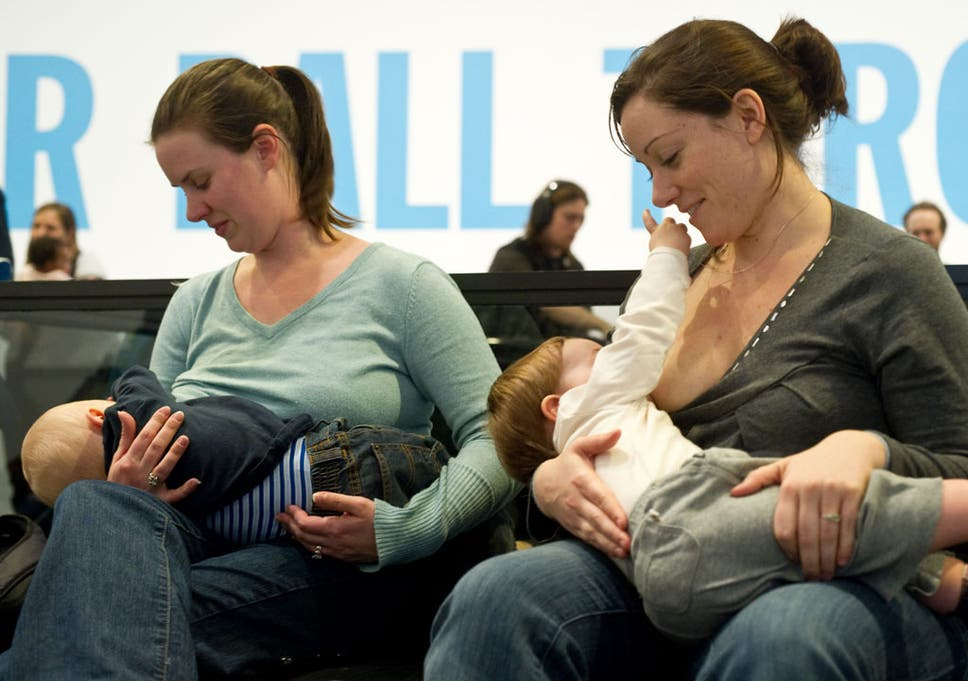 c299910ae987c Women breastfeed their babies at the Hirshhorn Museum in Washington on  February 12, 2011 during